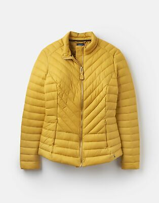 Joules  212551 Chevron Quilted Jacket - ANTIQUE GOLD