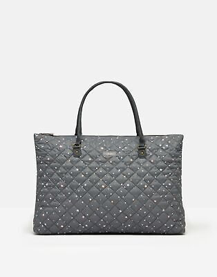 Joules Womens Dinky Overnight Quilted Travel Bag - GREY STARS in One Size