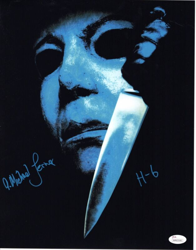 A. Michael Lerner signed 11X14 Photo The Curse of Michael Myers HALLOWEEN 6 JSA