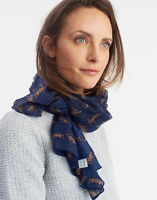 Joules Wensley Scarf in French Navy Hare in One Size