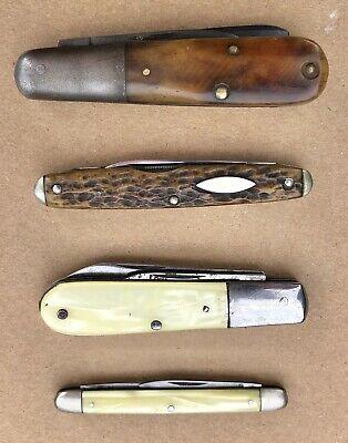 Vintage Lot Pocket Knives Case Tested Cattaraugus Colonial