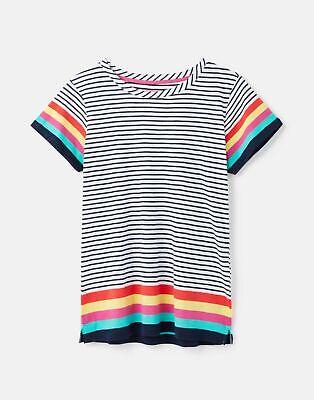 Joules  210430 Lightweight Jersey T Shirt - RAINBOW STRIPE