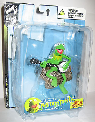 The Muppet Show Mini Kermit The Frog Exclusive Palisades Figure White Mailer