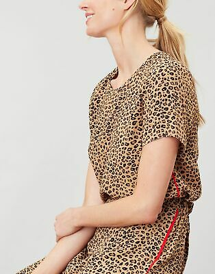 Joules Womens Cleo Woven Shell Top - TAN LEOPARD
