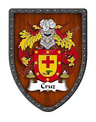 Cruz Coat of Arms Spanish Hispanic Family Crest Hanging Shield SH503P-DG-HG
