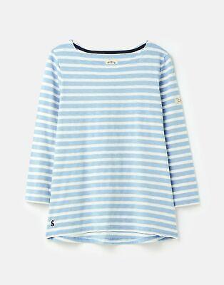 Joules Womens 208567 3/4 Sleeve Lightweight Jersey Top Shirt - BLUE STRIPE