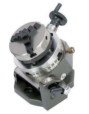 Teilapparat Rundtisch Ø 80 mm schwenkbar 0-90° mit 65 mm Dreibackenfutter