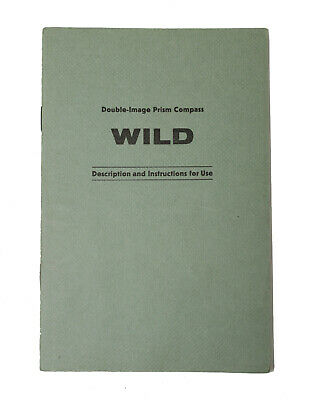 Original Users Manual For Wild Heerbrugg Prism Compass Leveltransit Surveying