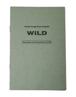 Original Users Manual For Wild Heerbrugg Prism Compass Leveltransit Surveying
