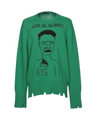 Brand New Life Is So Sweet Sweater in Green Riccardo Comi (Sold Out Everywhere!)