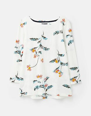 Joules  209073 3/4 Length Sleeve Jersey Striped Top - CREAM FLORAL