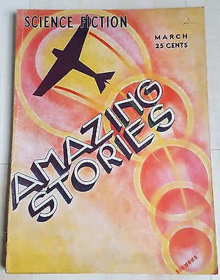 Amazing Stories vintage pulp fiction comic March 1933 vol 7 no 12