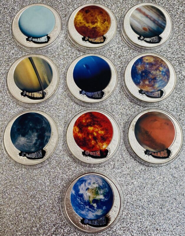 OUR SOLAR SYSTEM. COIN COLLECTION PLANETS. MILKY WAY. EARTH.MARS.SUN & MORE!