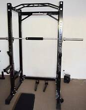 BARBARIAN Power Cage / Squat Rack / Home Gym with EXTRAS!!! Bentleigh East Glen Eira Area Preview
