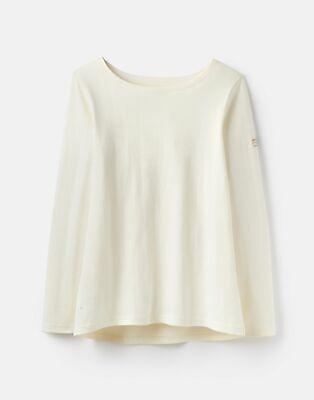 Joules  209682 Long Sleeve Jersey Top Shirt - CREAM