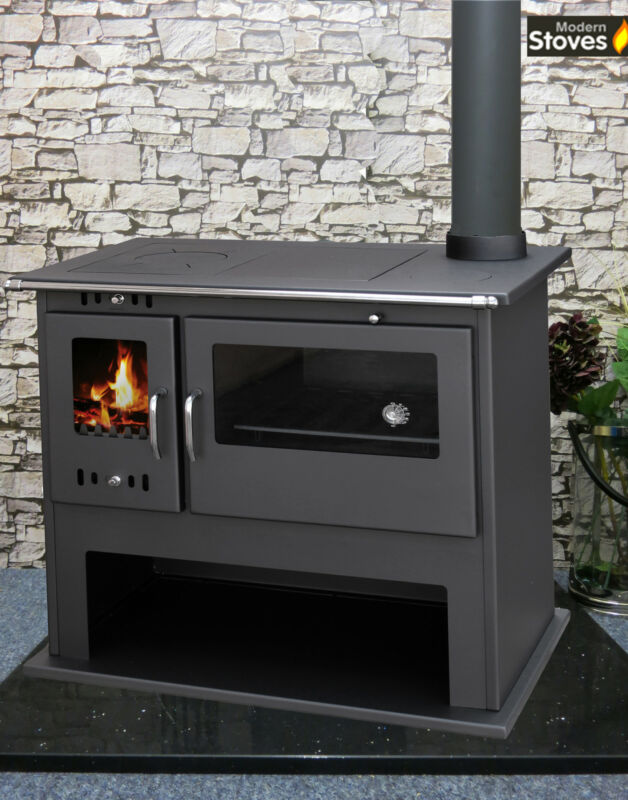 Wood Burning Multi Fuel Stove Range Oven Cooker With Back