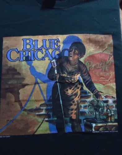 Vintage Blues Chicago Female Club Singer T Shirt (X-Large)