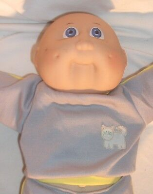 VINTAGE CABBAGE PATCH BABY BOY DOLL BY JESMAR MADE IN SPAIN BALD WITH BLUE EYES, used for sale  Arcadia