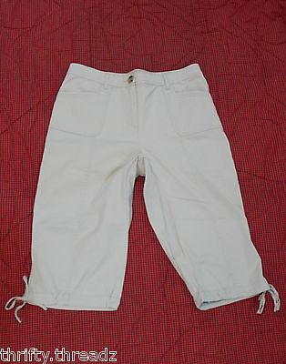 9551 Womens KAREN SCOTT Tan Khaki Capri Cropped Trail Stretch Pants, size 8 ~EUC Womens Trail Cropped Pant
