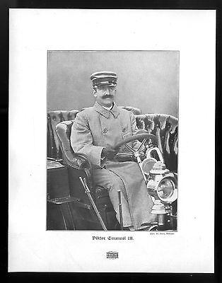Viktor Emanuel III. Der König von Italien am Steuer seines Autos Kunstdruck 1906
