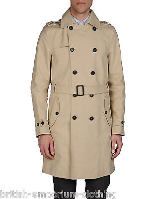 DSQUARED2 DSQ2 Beige COTTON Trench Coat Jacket UK44 IT54 BNWT Made In Italy