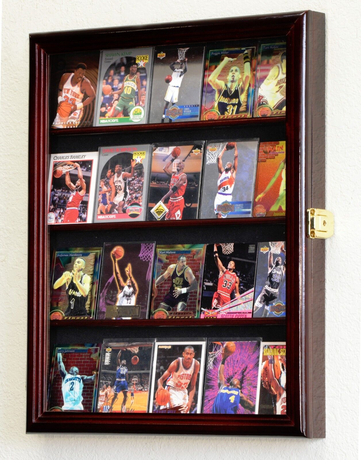 Sport Trading Card Display Case Cabinet Rack Holder 20 Ca...