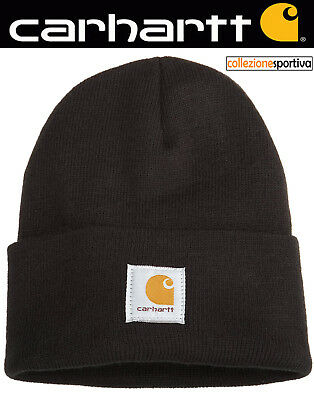CAPPELLO BERRETTO CARHARTT ACRYLIC WATCH HAT - A18-BLK col. nero