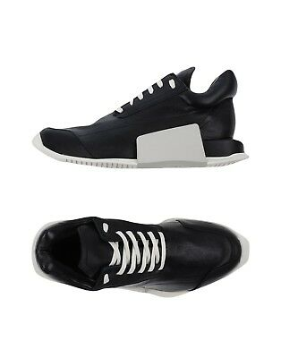 Rick Owens Limited Edition Black Leather Sneakers Women 36.5/7 with Adidas