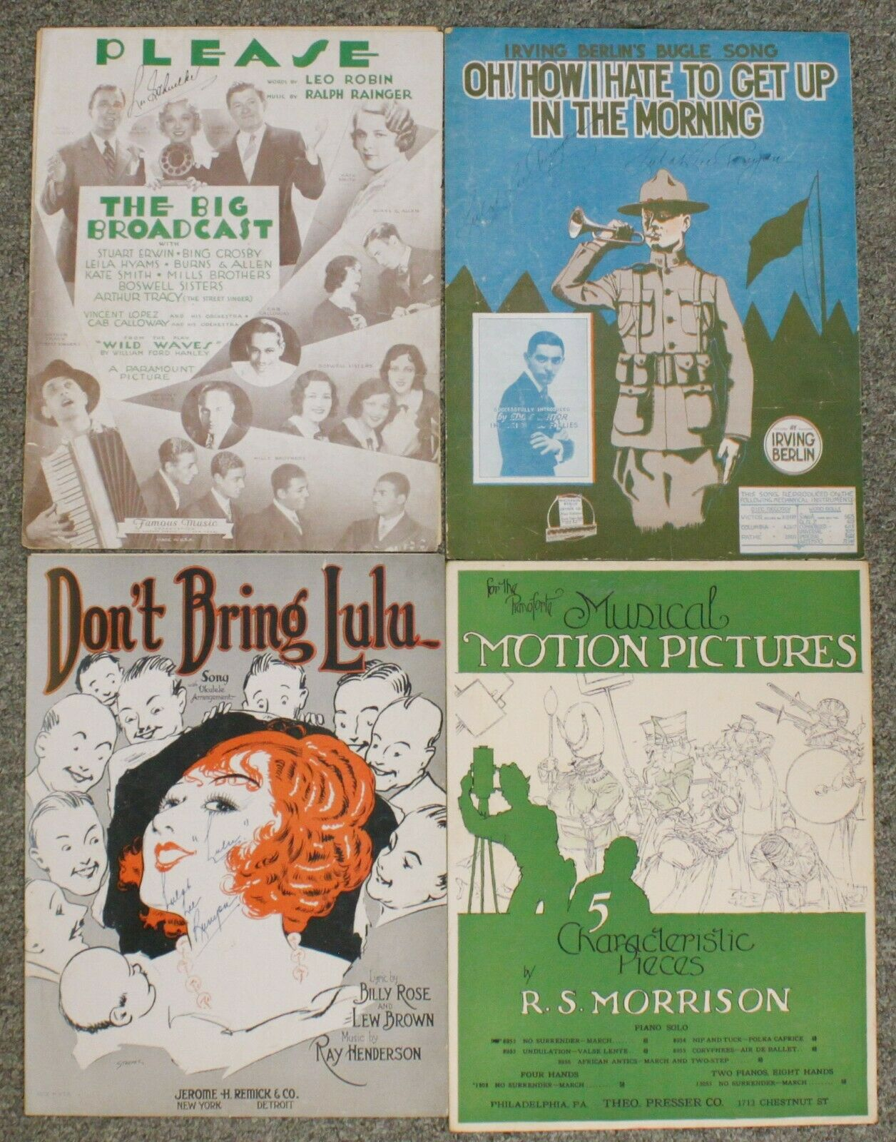 Please Big Broadcast Irving Berlin Motion Pictures Lulu Sheet Music Mixed Lot - $14.95