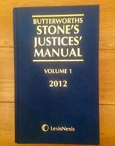 BUTTERWORTHS-STONES-JUSTICES-MANUAL-VOLUME-1-2012-LAW-BOOK-LEXIS-NEXIS