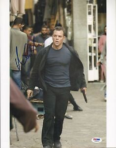 Matt-Damon-Signed-Bourne-Identity-11x14-Photo-PSA-DNA-COA-Gem-Mint-10-Autograph