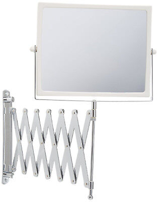 Extendable 2 Sided Makeup Mirror Wall Arm Shaving Swivel Magnifying Bathroom NEW - Extendable Shaving Makeup Mirror