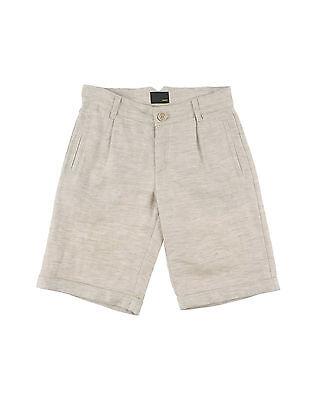NWT Fendi Kids Boys Bermuda Linen Beige Shorts (Size 6)
