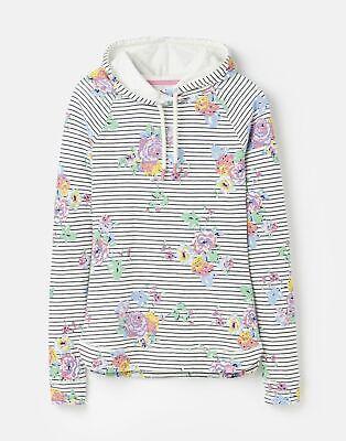 Joules  208621 Print Hooded Sweatshirt - CREAM NAVY FLORAL