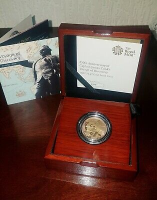 Extremely Rare 2020 £2 22ct Gold Proof Captain James Cook Coin