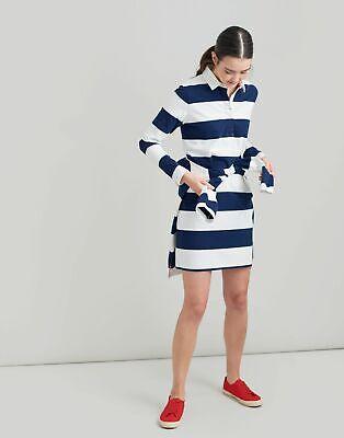 Joules Womens Winona Rugby Dress - CREAM NAVY STRIPE