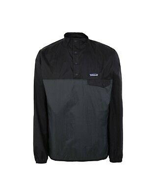 PATAGONIA MEN'S Houdini Snap-T Over Head Jacket Waterproof Forge Grey Large NEW