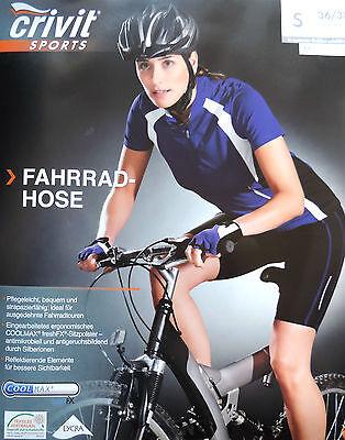 Damen Fahrradhose Radhose  Bikehose Radlerhose Hose Kurz S M L 36 38 40 42  NEU