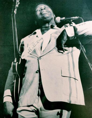 B. B. KING - Black & White Poster / Picture - King of The Blues - BB King - RARE