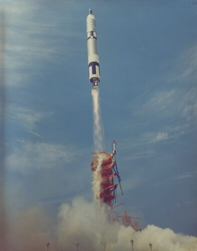 LAUNCH OF THE GEMINI 8 SPACECRAFT w/ ARMSTRONG SCOTT - 8X10 NASA PHOTO (EP-864)