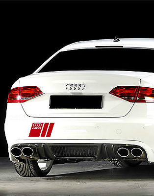 Audi A3 A4 A5 A6 A8 S4 S5 S6 RS4 Q7 TT S-Line Decal sticker emblem logo RED