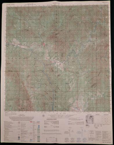 MAP – VIETNAM WAR – DAK TO – HIGHWAY 14 – DAK POKO - Original - 6538-II