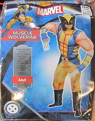 Classic Wolverine Costume (Wolverine Classic Muscle Adult Costume Marvel Comics Adult XL Brand New)
