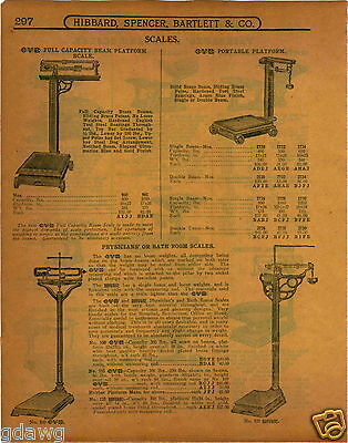 1915 PAPER AD OVB Our Very Best Doctors' Physicians' Scale Union Imperial (Best Physician Scales)