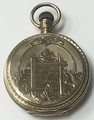 Elgin 18k Solid Gold 1883 Wind Up Vintage Pocket Watch USA Made11 Jewels 6s