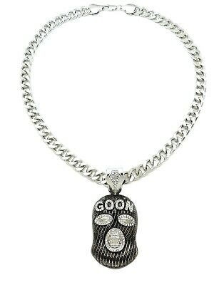 NEW ICED OUT GOON MASK PENDANT WITH 10mm 20