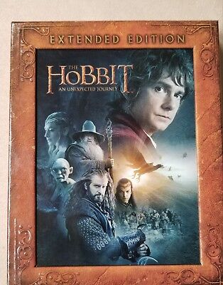 The Hobbit: An Unexpected Journey (Blu-ray Disc, 2013, 3-Disc Set, Extended