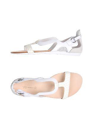 3a8c62fd3 adidas Y-3 Yohji Yamamoto Womens Heel Covered White Leather Flat Sandals  Size 10