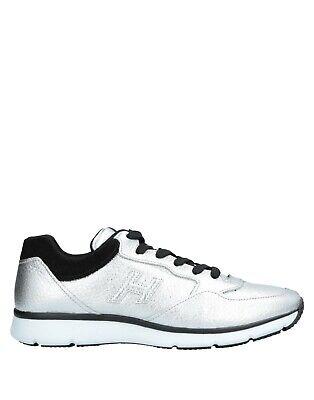 NIB Hogan Interactive Mens Fashion Sneaker Silver Soft Leather US 10 .5/ UK 9.5
