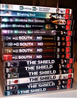 DVD TV series watched once - Breaking Bad/The Shield/Southland